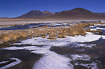 ATACAMA DESERT THE SALAR DE ATACAMA THE  LARGEST SALT FLAT IN CHILE MADE BY WATER FROM THE  ANDES EVAPORATING  2000S