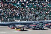 #21: Daniel Hemric, Richard Childress Racing, Chevrolet Camaro South Point Hotel & Casino #18: Ryan Preece, Joe Gibbs Racing, Toyota Camry Craftsman