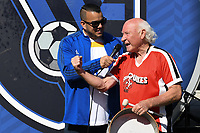 SAN JOSE, CA - FEBRUARY 29: Krazy George during a game between Toronto FC and San Jose Earthquakes at Earthquakes Stadium on February 29, 2020 in San Jose, California.