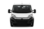 Car photography straight front view of a 2019 Citroen Jumper - 4 Door Chassis Cab Front View