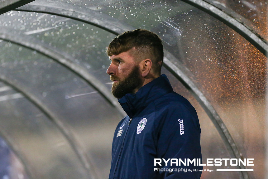 Paddy McCourt of Finn Harps during the SSE Airtricity League Promotion / Relegation Play-off Final 2nd leg game between Limerick and Finn Harps on Friday 2nd November 2018 at Markets Field, Limerick. Mandatory Credit: Michael P Ryan.