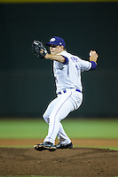 Winston-Salem Dash relief pitcher Jacob Morris (31) in action against the Myrtle Beach Pelicans at BB&T Ballpark on May 2, 2016 in Winston-Salem, North Carolina.  The Pelicans defeated the Dash 3-2 in 11 innings.  (Brian Westerholt/Four Seam Images)