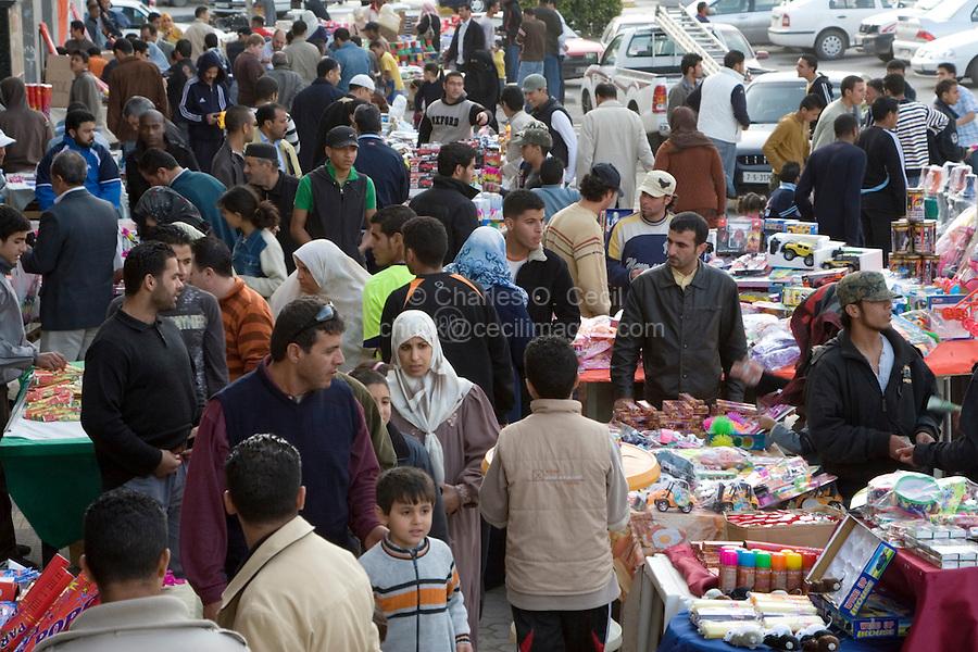 Tripoli, Libya - Holiday Shoppers in Market, Muhammad's Birthday