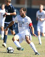 Jose Colchao #11 of Georgetwn University during a Big East match against Villanova University at North Kehoe Field, Georgetown University on October16 2010 in Washington D.C. Georgetown won 3-1.