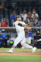Ricardo De La Torre (19) of the East Team bats against the West Team during the Perfect Game All American Classic at Petco Park on August 14, 2016 in San Diego, California. West Team defeated the East Team, 13-0. (Larry Goren/Four Seam Images)