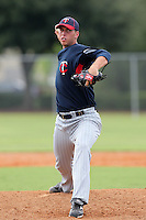 Minnesota Twins pitcher B.J. Hermsen #31 during an Instructional League game against the Boston Red Sox at Red Sox Minor League Training Complex in Fort Myers, Florida;  October 3, 2011.  (Mike Janes/Four Seam Images)