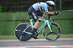 Wout Van Aert (BEL) in action on the Imola race circuit during the 31.7km Men Elite Time Trial of the 2020 UCI World Championships held around Imola, Italy. 25th September 2020.  <br /> Picture: Sirotti Stefano | Cyclefile<br /> <br /> All photos usage must carry mandatory copyright credit (© Cyclefile | Sirotti Stefano)