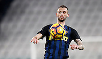 Calcio, Serie A: Torino, Juventus Stadium, 5 febbraio 2017.<br /> Inter Milan's Marcelo Brozovic in action during the Italian Serie A football match between Juventus and Inter Milan at Turin's Juventus Stadium, on February 5, 2017.<br /> UPDATE IMAGES PRESS/Isabella Bonotto