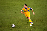 Javier Aquino of Tigres UANL (MEX) in action against CD Olimpia (HON) during their CONCACAF Champions League Semi Finals match at the Orlando's Exploria Stadium on 19 December 2020, in Florida, USA. Photo by Victor Fraile / Power Sport Images