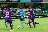 24th March 2021; HBF Park, Perth, Western Australia, Australia; A League Football, Perth Glory versus Sydney FC; Sydney's Anthony Caceres on the attack