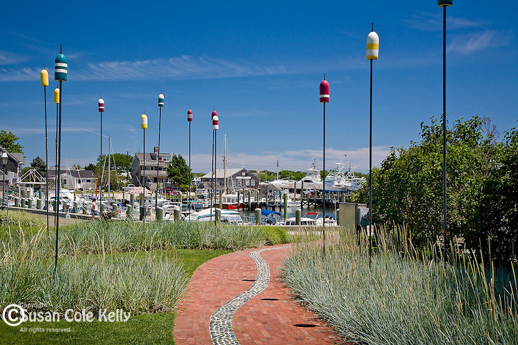 Aselton Park overlooks Hyannis Harbor, Hyannis, Cape Cod, MA, USA