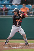 Modesto Nuts second baseman Donnie Walton (7) at bat during a California League game against the San Jose Giants at San Jose Municipal Stadium on May 15, 2018 in San Jose, California. Modesto defeated San Jose 7-5. (Zachary Lucy/Four Seam Images)