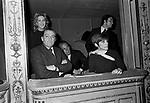 LUCHINO VISCONTI CON FRANCA VALERI, NORA RICCI ED ENRICO MEDIOLI <br />  TEATRO ARGENTINA ROMA 1968