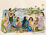 Napili Kai Love Song<br /> 11x15 Original Watercolor on Paper<br /> <br /> $1,750