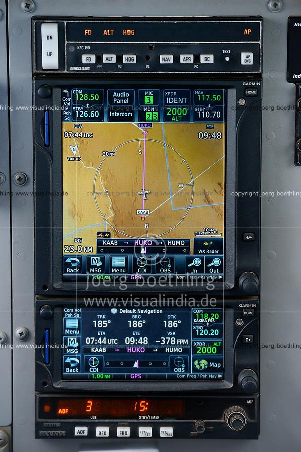UGANDA, MAF flight, Navigation instrument in small aircraft