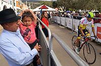 BOYACA - COLOMBIA: 10-09-2016. Hermerd Roman Pinto durante la cuarta etapa CRI, 30 kms, de la 38 versión de la vuelta Ciclista a Boyaca 2016 que se corre entre Sutamarchan y Samacá. La prueba se corre entre el  7 y el 11 septiembre de 2016./ Hermerd Roman Pinto during the fourth stage ITT, 30 kms, of the Vuelta a Boyaca 2016 that took place between villages of Sutamarchan and Samaca. The race is held between 7 and 11 of September of 2016 . Photo:  VizzorImage/ José Miguel Palencia / Liga Ciclismo de Boyaca