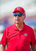 5 March 2016: Washington Nationals Team Owner Mark Lerner watches batting practice prior to a Spring Training pre-season game against the Detroit Tigers at Space Coast Stadium in Viera, Florida. The Nationals defeated the Tigers 8-4 in Grapefruit League play. Mandatory Credit: Ed Wolfstein Photo *** RAW (NEF) Image File Available ***