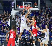 13th October 2021; Wizink Center; Madrid, Spain; Turkish Airlines Euroleague Basketball; game 3; Real Madrid versus AS Monaco; Walter Tavares (Real Madrid Baloncesto) slam dunks