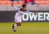 HOUSTON, TX - JANUARY 28: Katherine Castillo #8 of Panama celebrates during a game between Costa Rica and Panama at BBVA Stadium on January 28, 2020 in Houston, Texas.