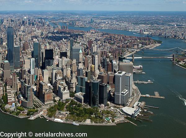 aerial photograph Battery Park, Lower Manhattan, New York City