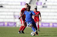 Orlando, Florida - Monday January 15, 2018: Edward Opoku. Match Day 2 of the 2018 adidas MLS Player Combine was held Orlando City Stadium.