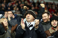 Wednesday, 01 January 2014<br /> Pictured: Swansea City supporters.<br /> Re: Barclay's Premier League, Swansea City FC v Manchester City at the Liberty Stadium, south Wales.