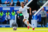 11th September 2021; King Power Stadium, Leicester, Leicestershire, England;  Premier League Football, Leicester City versus Manchester City; Bernardo Silva of Manchester City