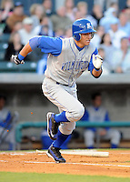 April 10, 2009: Outfielder David Lough (7) of the Wilmington Blue Rocks, Class A affiliate of the Kansas City Royals, in a game against the Myrtle Beach Pelicans at BB&T Coastal Field in Myrtle Beach, S.C. Photo by:  Tom Priddy/Four Seam Images