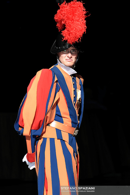 Pontifical Swiss Guard.The Corps of the Pontifical Swiss Guard or Swiss Guard,Guardia Svizzera Pontificia,responsible for the safety of the Pope, including the security of the Apostolic Palace. It serves as the de facto military of Vatican City..28/04/2009
