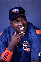 Tony Gwynn of the San Diego Padres during a 2000 season MLB game at Dodger Stadium in Los Angeles, California. (Larry Goren/Four Seam Images)