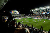 Philadelphia Union fans during MLS soccer match.