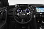 Car pictures of steering wheel view of a 2018 Infiniti QX70 S 5 Door SUV