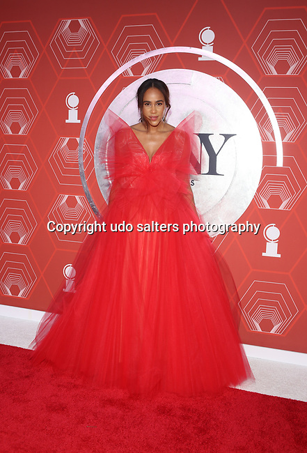 Zawe Ashton attends the 74th Tony Awards-Broadway's Back! arrivals at the Winter Garden Theatre in New York, NY, on September 26, 2021.