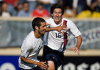 Benny Feilhaber celebrates his goal with Sacha Kljestan. The USA defeated China, 4-1, in an international friendly at Spartan Stadium, San Jose, CA on June 2, 2007.