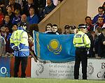 Khazakstan flag in the Rangers support