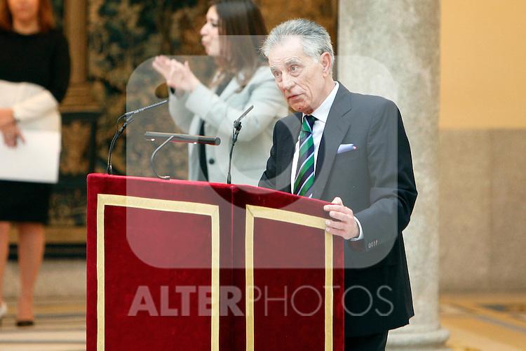 Jesus Hermida attend the National Awards of Culture 2011 and 2012 at Palacio de El Pardo. February 19, 2013. (ALTERPHOTOS/Caro Marin)