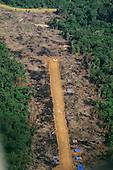 Amazon, Brazil. Illegal airstrip serving the Rangel garimpo, an illegal prospector gold mine.
