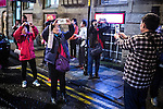 """© Joel Goodman - 07973 332324 . 18/12/2015 . Manchester , UK . Revellers in Manchester enjoy """" Mad Friday """" - also known as """" Black Eye Friday """" - the day on which emergency services in Britain are typically at their busiest , as people head out for parties and drinks to celebrate Christmas . Photo credit : Joel Goodman"""