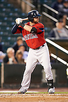 Pawtucket Red Sox outfielder Bryce Brentz #25 during game four of a best of five playoff series against the Empire State Yankees at Frontier Field on September 8, 2012 in Rochester, New York.  Pawtucket defeated Empire State 7-1 to advance to the International League Finals.  (Mike Janes/Four Seam Images)