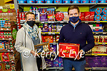 Jean Leahy from Abbeyfeale standing with Michael Twohig in Twohigs Supervalu Abbeyfeale