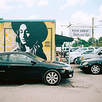 A mural of country singer/songwriter Margo Price is picutred in East Nashville, Tennessee on Saturday, May 19, 2018. (Photo by James Brosher)