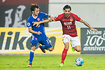 Ricardo Goulart Pereira (r) of Guangzhou Evergrande FC fights for the ball with Lee Hong Lim of Eastern SC during their AFC Champions League 2017 Match Day 1 Group G match between Guangzhou Evergrande FC (CHN) and Eastern SC (HKG) at the Tianhe Stadium on 22 February 2017 in Guangzhou, China. Photo by Victor Fraile / Power Sport Images