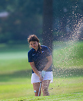Maggie Nickel of Heritage hits ball out of bunker at Springdale Country Club, Springdale, Arkansas, Monday, August 2, 2021 / Special to NWA Democrat-Gazette/ David Beach