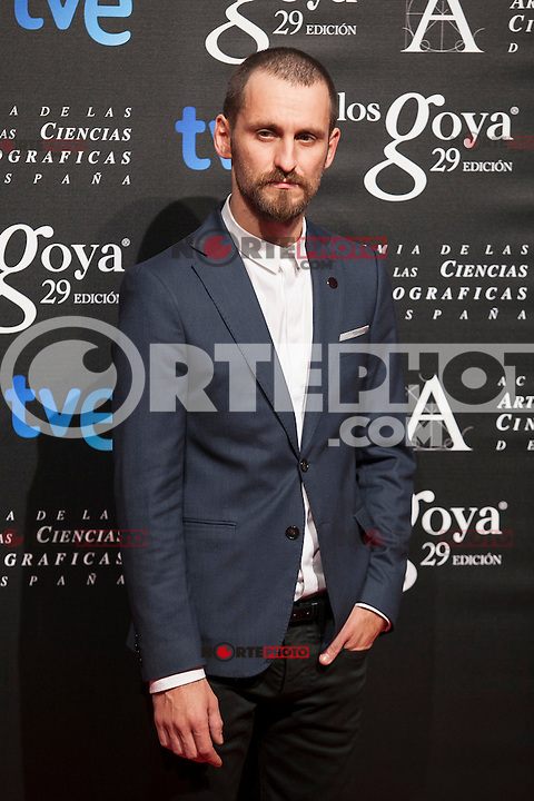 Raul Arevalo poses before the 2015 Goya Awards nominee ceremony in Madrid, Spain. January 19, 2015. (ALTERPHOTOS/Victor Blanco)