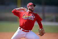 St. Louis Cardinals pitcher Eric Carter (37) during a Minor League Spring Training game against the Houston Astros on March 27, 2018 at the Roger Dean Stadium Complex in Jupiter, Florida.  (Mike Janes/Four Seam Images)