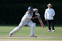 Hassan Chowdhury in batting action for Wanstead during Brentwood CC vs Wanstead and Snaresbrook CC, Essex Cricket League Cricket at The Old County Ground on 12th September 2020