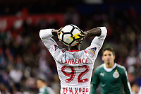 Harrison, NJ - Tuesday April 10, 2018: Kemar Lawrence during leg two of a  CONCACAF Champions League semi-final match between the New York Red Bulls and C. D. Guadalajara at Red Bull Arena. C. D. Guadalajara defeated the New York Red Bulls 0-0 (1-0 on aggregate).