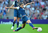 August 09, 2012: United States' Carli Lloyd in action during Football Final match at the Wembley Stadium on day thirteen in Wembley, England. USA defeat Japan 2-1 to win it's third consecutive Olympic gold medal in women's soccer. ..