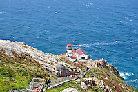 Point Reyes Lighthouse with steps. Point Reyes National Seashore. California