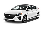 2017 Hyundai Ioniq-Electric Electric-Limited 5 Door Hatchback Angular Front stock photos of front three quarter view